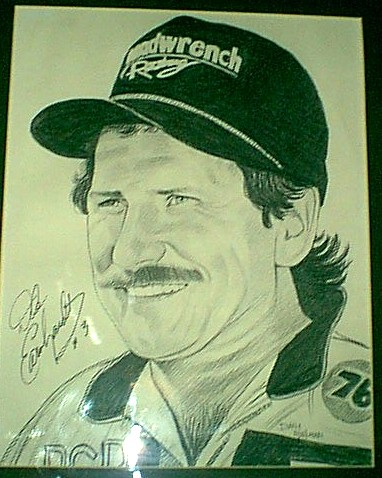 In Loving Memory - A picture of Dale Earnhardt - 1951 to 2001